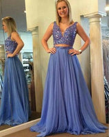 Two Piece Beaded Long Prom Dresses  , Charming Prom Evening Dresses,Long Prom Dress PDS0392