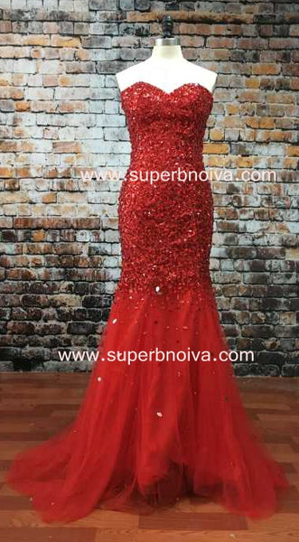 Sweetheart Full Beaded Real Photo Long Prom Dress ,Wedding Party Dress ,Formal Dress PDS0566