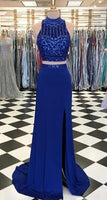 Fashion Two Piece Beaded Long Prom Dress Wedding Party Dress Formal Dress PDS0610