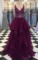 Fashion A-line Beaded Long Prom Dress Wedding Party Dress Formal Dress PDS0616