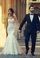 Sweetheart Mermaid Wedding Dresses , Fashion Custom Made Bridal Dresses, Plus Size Wedding dress BDS0680