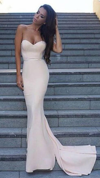 Sweetheart Mermaid Long Prom Dress,Fashion Winter Formal Dress, Wedding Party Dress PDS1051