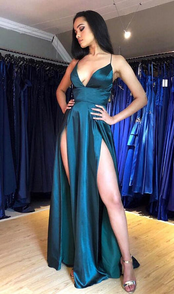 Sexy Long Prom Dress with Slit,Sweet 16 Dress, Pageant Dress, Wedding Party Dress PDS1084