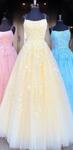 Long Prom Dresses with Applique,Sweet 16 Dress, Pageant Dress, Wedding Party Dress PDS1119
