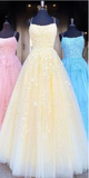 Yellow Long Prom Dresses,Sweet 16 Dress, Pageant Dress, Wedding Party Dress PDS1115