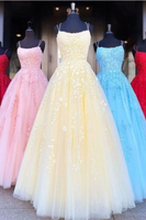 Long Prom Dresses with Applique,Sweet 16 Dress, Pageant Dress, Wedding Party Dress PDS1116