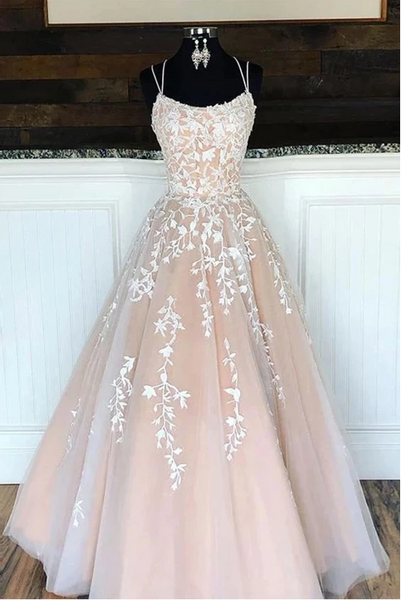 Long Prom Dresses with Applique,Sweet 16 Dress, Pageant Dress, Wedding Party Dress PDS1117