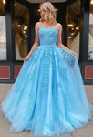Long Prom Dresses with Applique,Sweet 16 Dress, Pageant Dress, Wedding Party Dress PDS1120