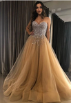 Sweetheart Long Prom Dresses with Beading ,Sweet 16 Dress, Pageant Dress, Wedding Party Dress PDS1125