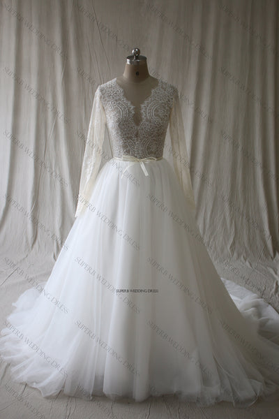 Wedding Dress Sheer Top ,Wholesale Real Photo Bridal Wedding Gown
