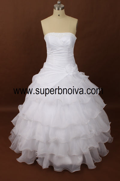 Strapless Real Photo Wedding Dress Ball Gown,Popular Bridal Dress With Beading BDS0070