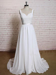 Backless Lace/Chiffon Beach Wedding Dress Real Photo Beach Bridal Dress BDS0579