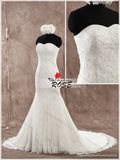 Sweetheart Mermaid Lace Wedding Dress with Lace up Back , Custom Made Real Photo Bridal Dresses, Vestidos de Novia BDS0603