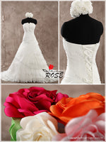 Strapless Wedding Dress with Lace up Back , Custom Made Real Photo Bridal Dresses, Vestidos de Novia BDS0606