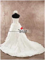 Strapless Unique Wedding Dress Real Photo Bridal Dresses Vestidos de Novia BDS0499