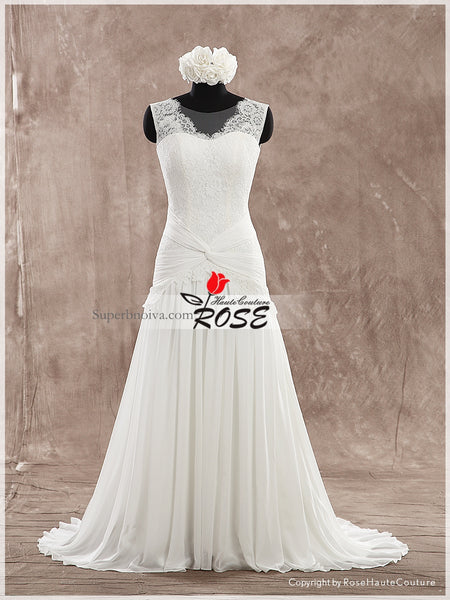 Real Photo Chiffon/Lace Beach Wedding Dress Bridal Dresses Vestidos de Novia BDS0496