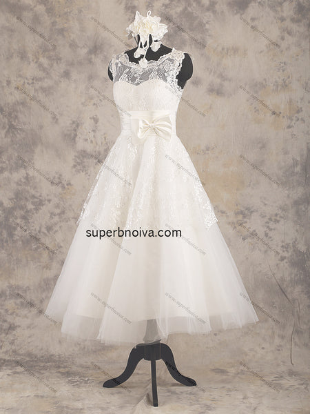 Short Lace/Tulle Real Photo Wedding Dress Reception Bridal Dresses Vestidos de Novia BDS0371