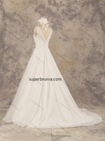 Sleeveless V-Neck Lace/Tulle Real Photo Wedding Dress Bridal Dresses Vestidos de Novia BDS0375