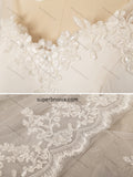 V-neck Mermaid Chiffon/Tulle Real Photo Wedding Dress With Applique Beach Wedding Bridal Dresses Vestidos de Novia BDS0378