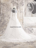 A-line Long Sleeves Real Photo  Wedding Dress Bridal Dresses With Applique And Beading Vestidos de Novia BDS0384