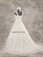 A-line  Real Photo Wedding Dress Bridal Dresses With Applique Vestidos de Novia BDS0386