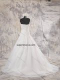 One Shoulder Tulle Real Photo Wedding Dress Bridal Dresses With Applique Vestidos de Novia BDS0388