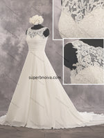 A-line Chiffon Real Photo Beach Wedding Dress With Applique Bridal Dresses Vestidos de Novia BDS0418
