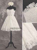 Fashion Lace Homecoming Dress , Short Prom Dress,Short Bridal Wedding Dress PDS0035