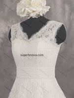 V-neck A-line Real Photo Lace Wedding Dress Bridal Dresses Vestidos de Novia BDS0430