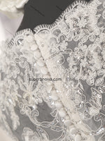 V-neck A-line Real Photo Beaded Lace/Tulle Wedding Dress With Cap Sleeves Bridal Dresses Vestidos de Novia BDS0438