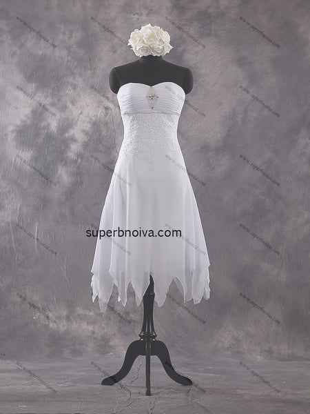 Sweetheart A-line Short Real Photo Wedding Dress Reception Bridal Dresses BDS0440