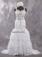 Unique Real Photo Lace/Tulle Wedding Dress With Applique and Beading Bridal Dresses Vestidos de Novia BDS0443