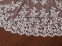Wedding Large Veil Lace Veil Cathedral Wedding Veil  LV03