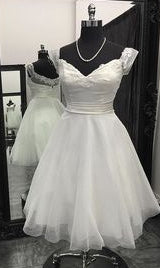 Popular Short Wedding Dress , Short Wedding Reception Bridal Dress BDS0666