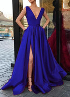 Deep V-neck Sexy Long Prom Dress,Fashion Winter Formal Dress, Wedding Party Dress PDS1052