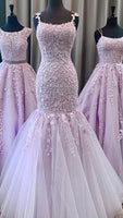 Mermaid Long Prom Dresses with Applique and Beading,Sweet 16 Dress, Pageant Dress, Wedding Party Dress PDS1100