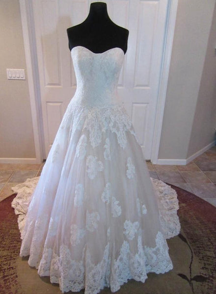 Strapless Sweetheart Lace Wedding Dress Bridal Dresses Vestidos de Novia BDS0485