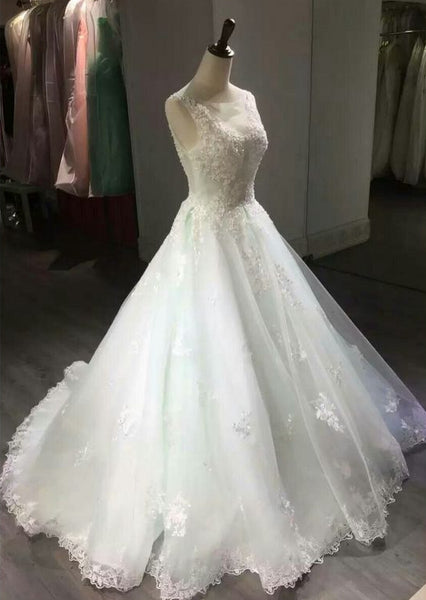 Fashion Appliqued Ball Gown Wedding Dress ,Popular  Ball Gown Wedding Dress  BDS0216