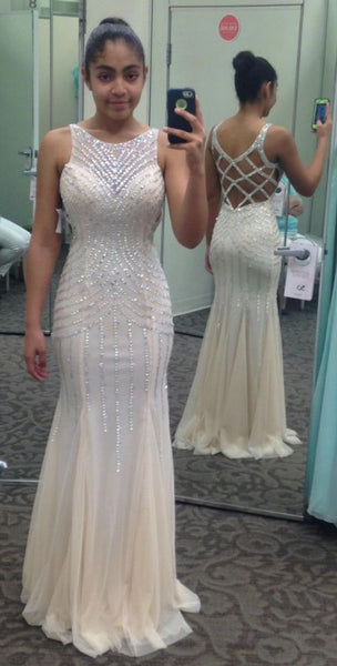 Full Beaded Mermaid Long Prom Dress Wedding Party Dress Formal Dress PDS0570