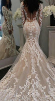 Mermaid Lace Wedding Dress, Fashion Custom Made Bridal Dresses, Plus Size Wedding dress BDS0650