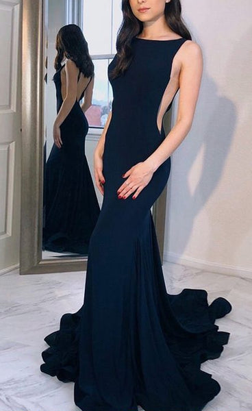 Mermaid Long Prom Dress,Fashion Winter Formal Dress, Wedding Party Dress PDS0972