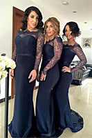 Fashion Long Sleeves Bridesmaid Dresses Wedding Party Dress Formal Dress PDS0613