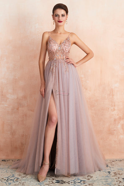2020 Long Prom Dresses with Beading,Sweet 16 Dress, Pageant Dress, Wedding Party Dress PDS1097