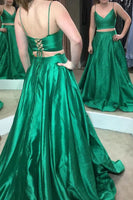 Two Pieces Long Prom Dress, Fashion Pageant Dress, School Party Dress, Fashion Evening Dress PDS0873