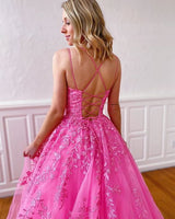 Long Prom Dresses with Applique and Beading ,Sweet 16 Dress, Pageant Dress, Wedding Formal Dress PDS1133