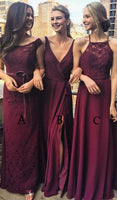 A-line Simple Bridesmaid Dress Evening Party Dress PDS0557