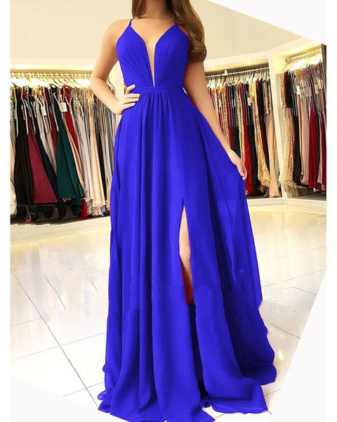 A-line Royal Blue Long Prom Dress ,Fashion Pageant Dress, School Dance Dress PDS0910