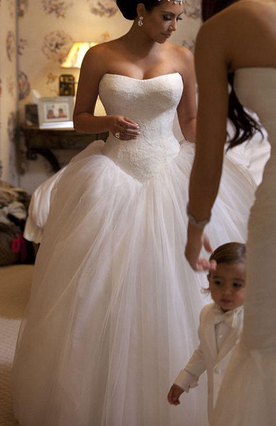 Strapless Ball Gown Wedding Dress,Fashion Ball Gown Bridal Dresses, Custom Made Wedding dress BDS0624