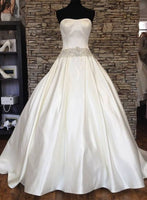 Strapless Satin Bridal Dresses Fashion Wedding Dresses Vestidos de Novia BDS0528