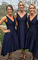 Fashion High Low Bridesmaid Dresses Wedding Party Dress Formal Dress PDS0650